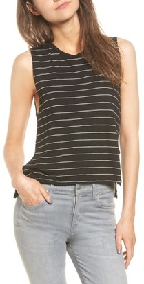 Women's Michelle By Comune Livingston Stripe Muscle Tee $26 thestylecure.com