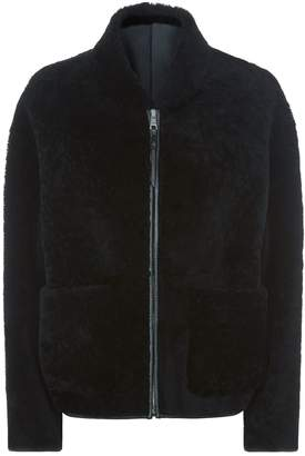 Pringle Cropped Sheepskin Jacket