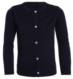 Nautica Little Girl's Button-Front Cotton-Blend Cardigan