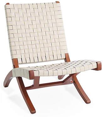 Global Views Safari Folding Chair - Ivory Leather