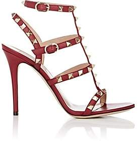 Valentino Women's Rockstud Multi-Strap Sandals-Rubin