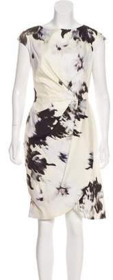 Lela Rose Sleeveless Printed Dress