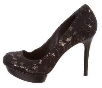 Tory Burch Lace Platform Pumps