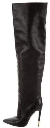 Tom Ford Leather Over-The-Knee Boots