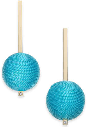 INC International Concepts I.n.c. Gold-Tone Colored Tread-Wrapped Ball Drop Earrings, Created for Macy's