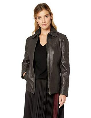Excelled Women's Plus Size Lambskin Scuba
