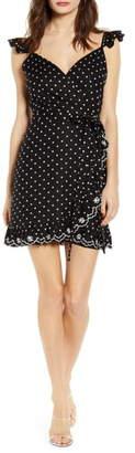 WAYF Simone Ruffle Wrap Style Mini Sundress