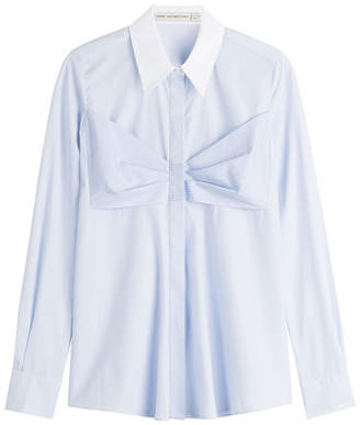 Mary Katrantzou Cotton Shirt with Bow