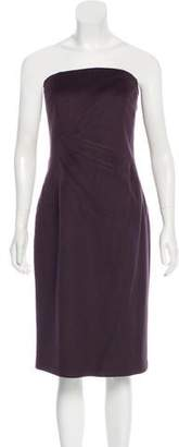 Michael Kors Strapless Virgin Wool Dress