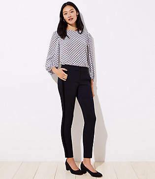 LOFT Skinny Velvet Stripe Ankle Pants in Marisa Fit