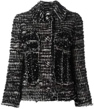 Simone Rocha beaded tweed fitted jacket
