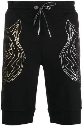 Plein Sport metallic print track shorts