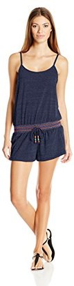 Lucky Brand Women's Love Fiesta Cover-Up Romper with Adjustable Straps $19.40 thestylecure.com