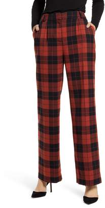 Chelsea28 High Waist Plaid Pants