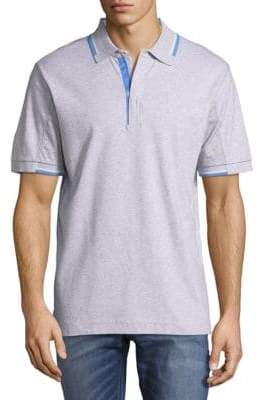 Robert Graham Cotton Zip Polo Shirt