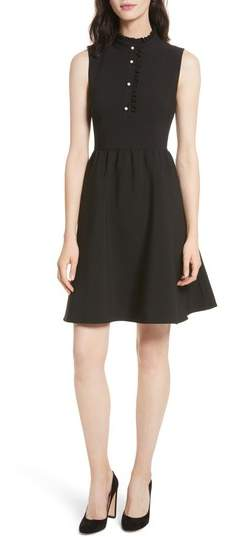 Women's Kate Spade New York Ruffle Front Crepe Dress