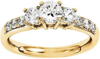 MODERN BRIDE 1 3/4 CT. T.W. Diamond 14K Yellow Gold 3-Stone Ring