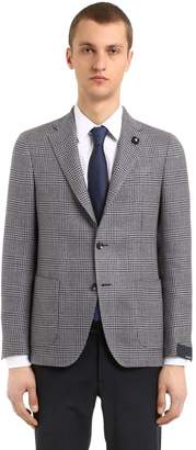 Lardini Wool & Linen Prince Of Wales Jacket