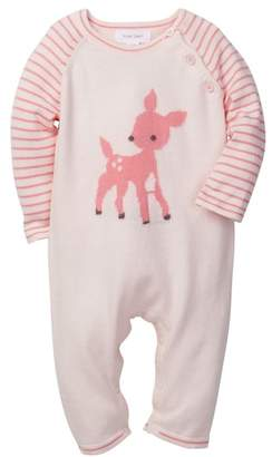 Angel Dear Fawn Intarsia Coverall (Baby Girls)