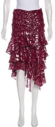 Veronica Beard Midi Jacquard Skirt