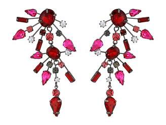 Steve Madden Rhinestone Cluster Drop Earrings