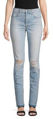 Cotton Citizen High-Rise Split Skinny Jeans