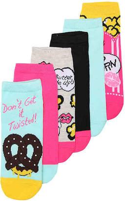 Betsey Johnson Pretzel No Show Socks - 6 Pack - Women's