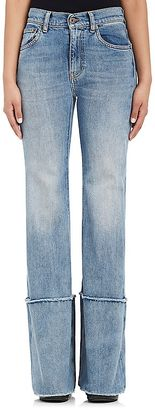 Off-White c/o Virgil Abloh Women's Cuffed Wide-Leg Jeans $645 thestylecure.com