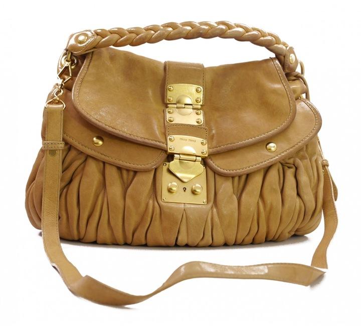 Miu MiuBrown Leather Handbag Matelassé