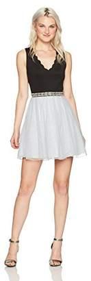 Speechless Women's Sleeveless V Neck Party Dress