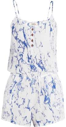 Lemlem Hana Marbled Silk Playsuit