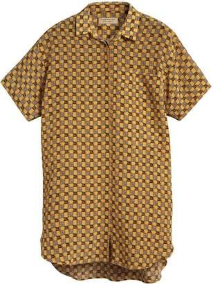 Burberry Short-sleeve Equestrian Check Cotton Shirt
