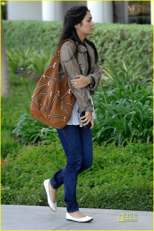 JJ Winters Multi Zipper Bag as seen on Vanessa Hudgens