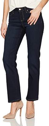 Liverpool Jeans Company Women's Petite Sadie Straight 5 Pocket Mid Rise Super Soft Stretch Denim