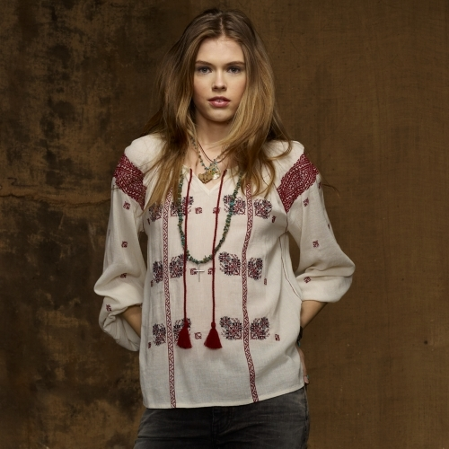 Denim & Supply Ralph Lauren Embroidered Peasant Top