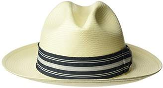 Bailey Of Hollywood Men's creel Straw Fedora Trilby Hat With Striped Band