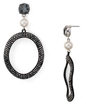 Aqua Round Crystal Drop Earrings - 100% Exclusive