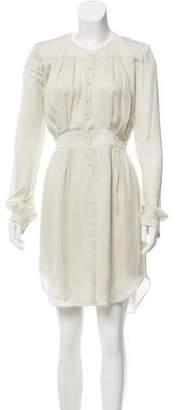 Theyskens' Theory Silk Button-Up Dress