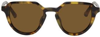 Dries Van Noten Tortoiseshell Linda Farrow Edition 184 C2 Angular Sunglasses