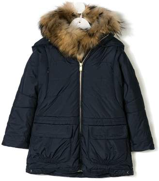 Lapin House hooded zip-up jacket