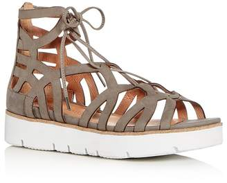 Gentle Souls Women's Larina Nubuck Leather Gladiator Platform Sandals