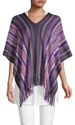 Missoni Patterned V-Neck Poncho