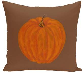 August Grove Ivy Lil Pumpkin Holiday Outdoor Throw Pillow