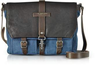 The Bridge Carver-D Canvas Messenger Bag w/Leather Flap