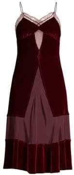 Le Superbe Sigmonds Silk& Velvet Slip Dress