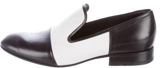 CelineCéline Leather Round-Toe Loafers
