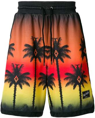 Marcelo Burlon County of Milan palm sunset bermuda shorts