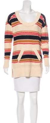 Tory Burch Striped Scoop-Neck Sweater