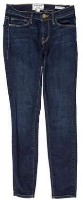 Frame Le Skinny De Jeanne Low-Rise Jeans