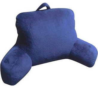 Mainstays Micro Mink Plush Bedrest, Indigo